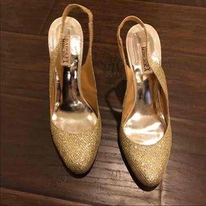Badgley Mischka Shoes - Badgley Mischka KISS KISS gold sling back heels